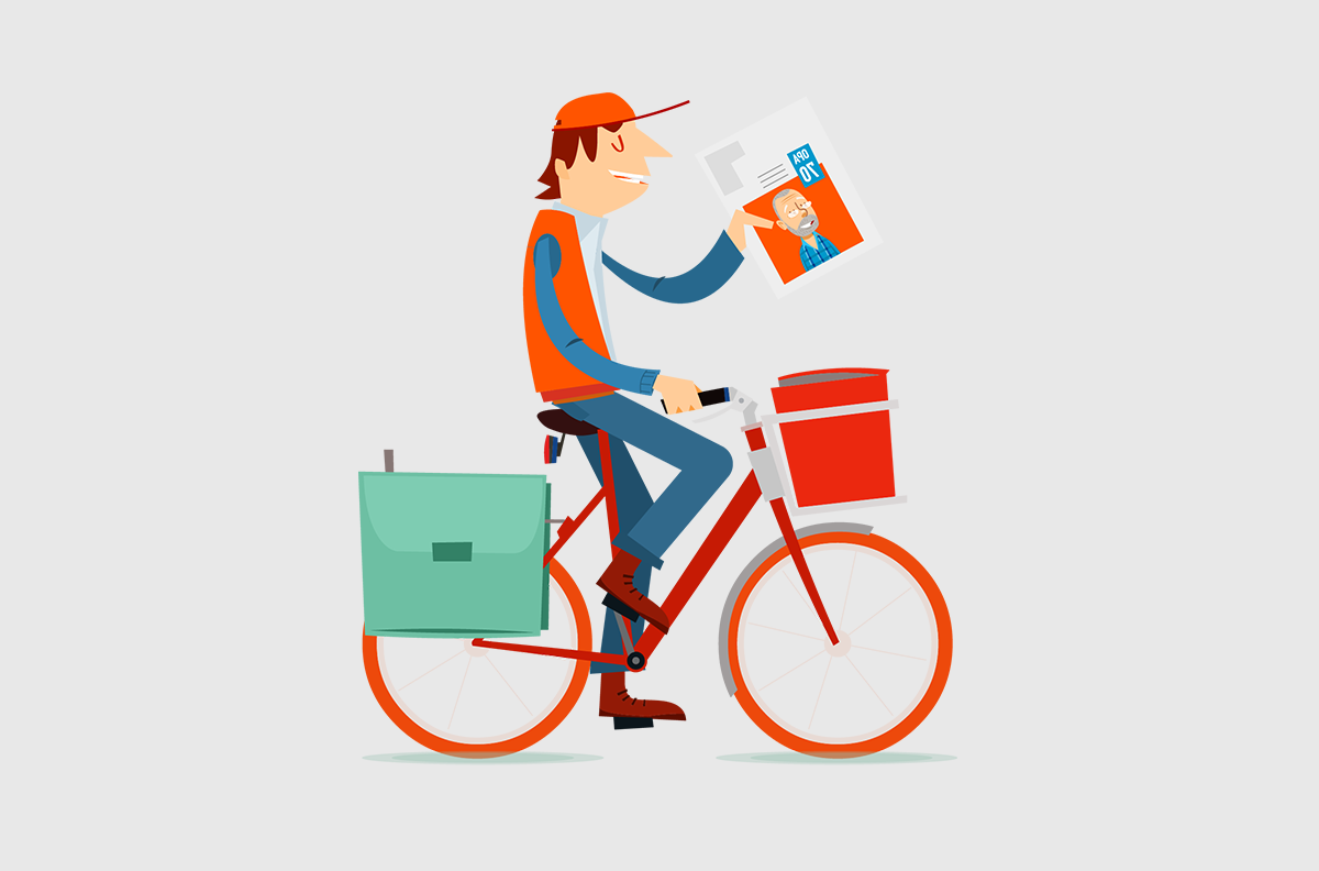 Happiedays make your own newspaper delivery time post