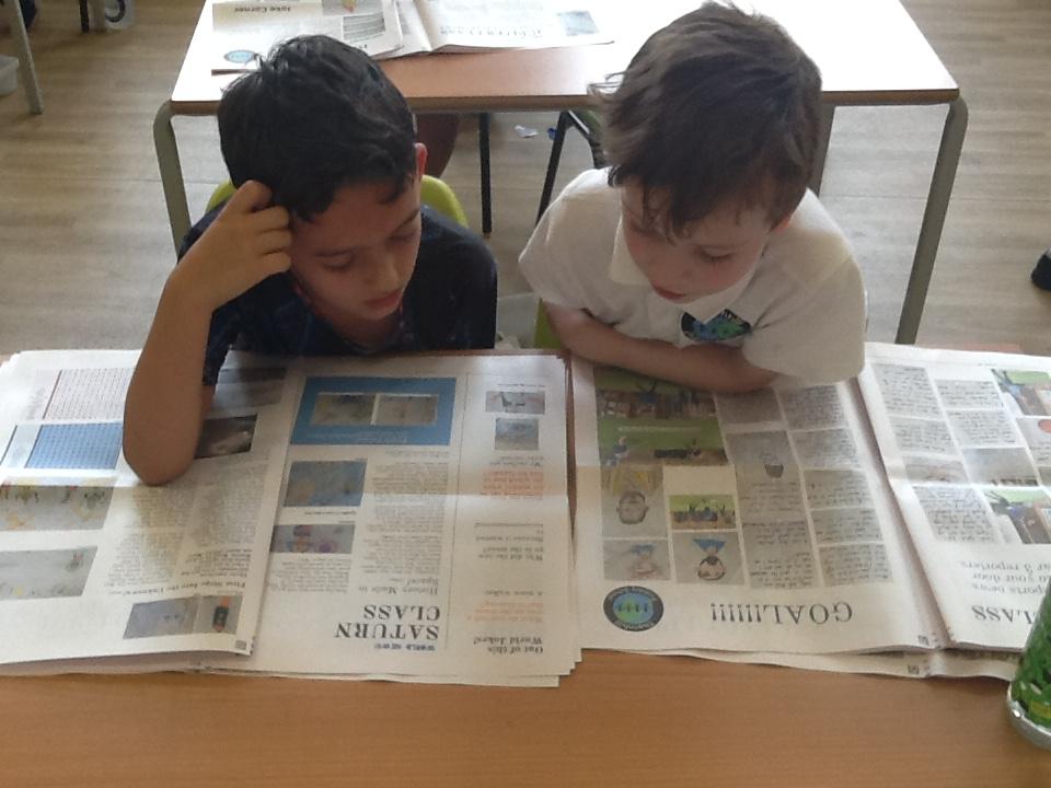 newspaper making activity - Happiedays