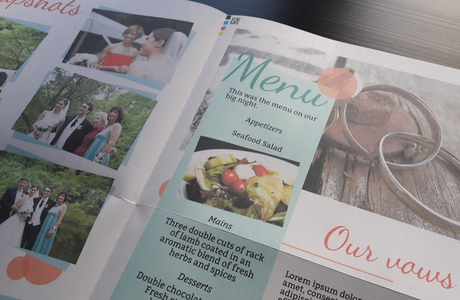 make and print your own newspaper for a wedding - Happiedays