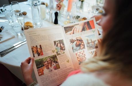 create a newspaper for a wedding - Happiedays