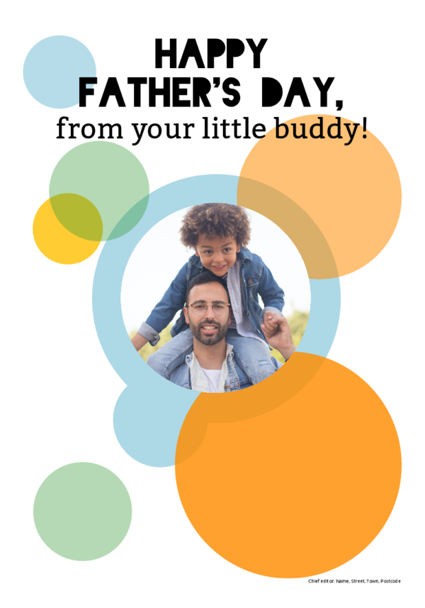 Make your own newspaper template father's day | Happiedays