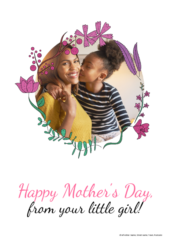Make your own newspaper template mother's day | Happiedays