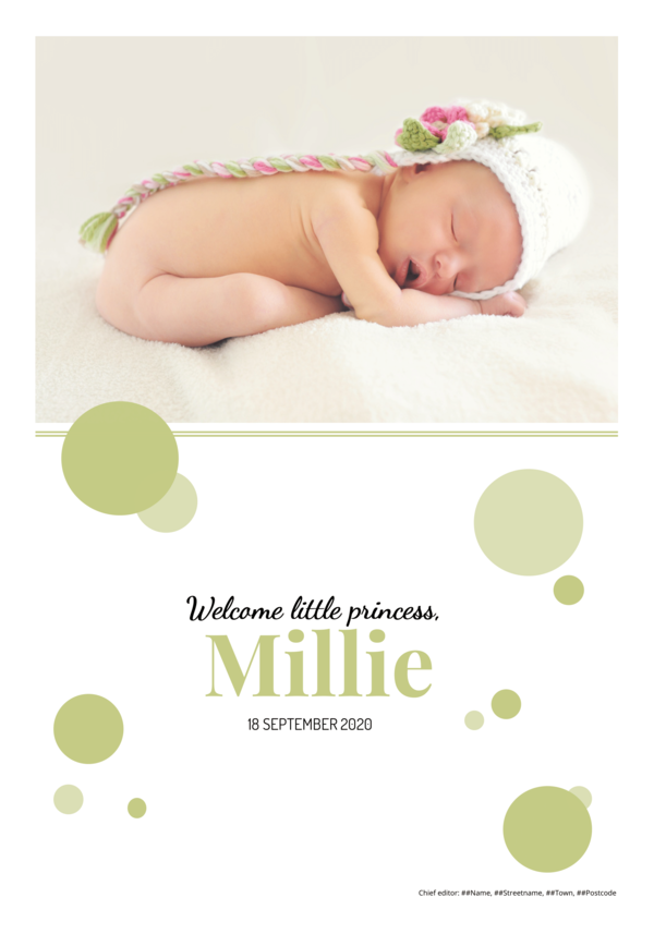 Make your own newspaper template baby announcement | Happiedays
