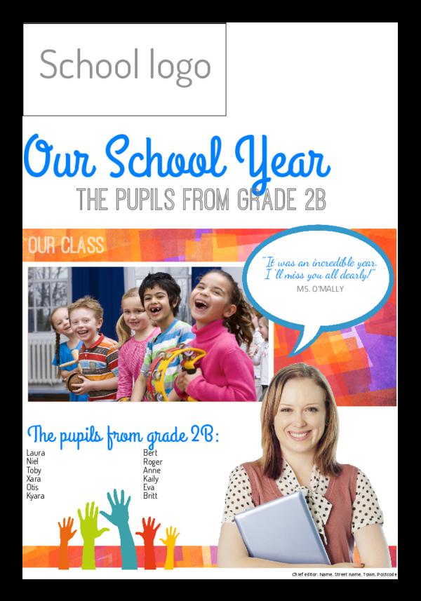 make a newspaper newspaper template end of school year - happiedays
