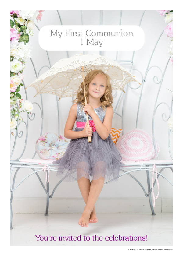 make a newspaper newspaper template first communion - happiedays