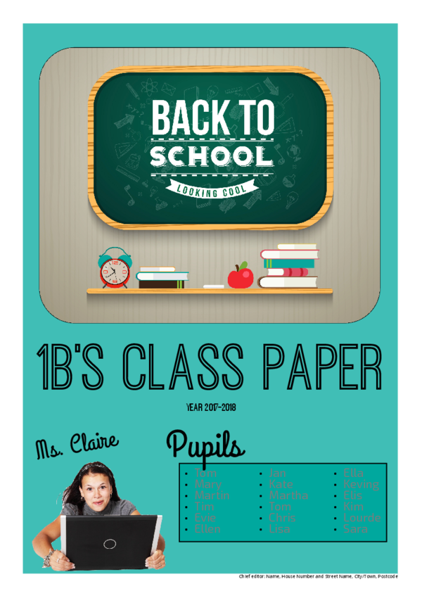 Make your own newspaper template back to school | Happiedays