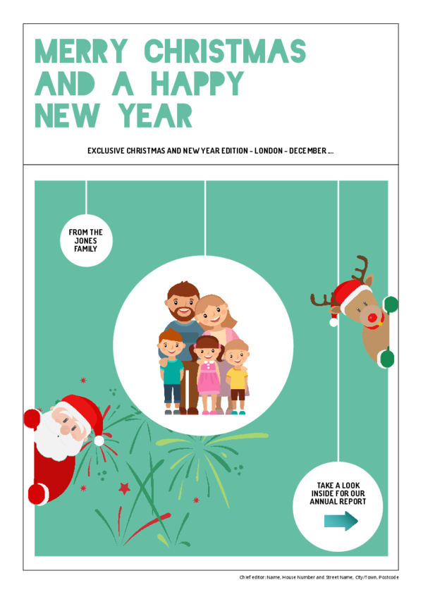 Make your own newspaper template Christmas and New year | Happiedays