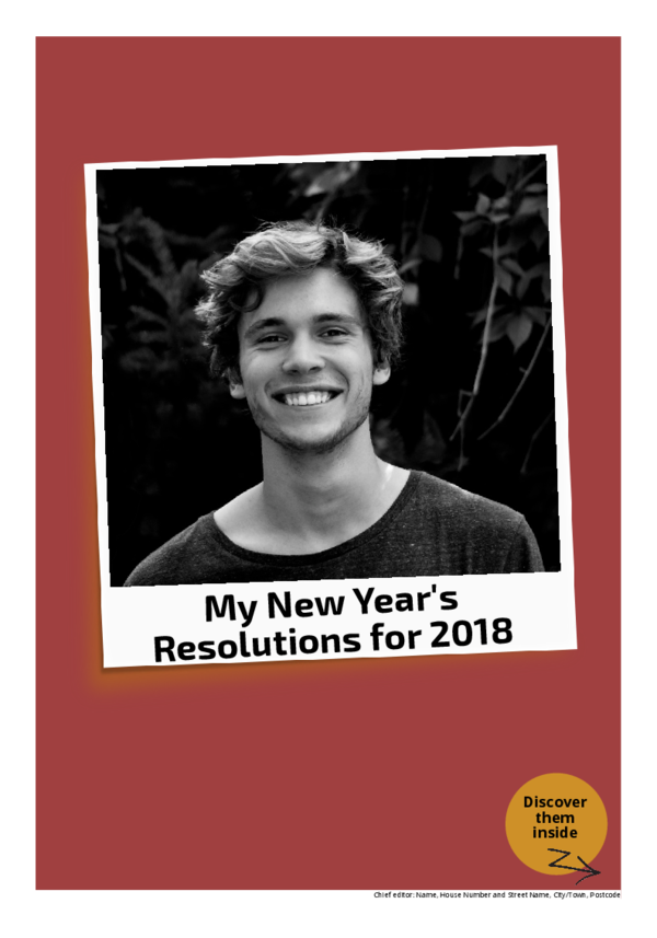 Make your own newspaper template New Year's resolutions | Happiedays
