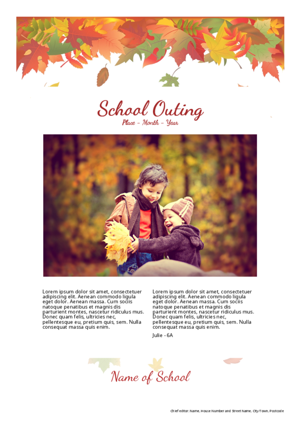 Make your own newspaper template school outing | Happiedays