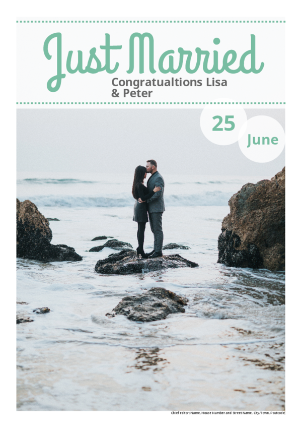 Make your own newspaper template wedding | Happiedays