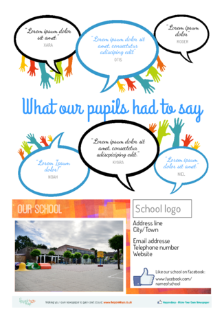 Make your own end-of-year school newspaper yearbook - Happiedays
