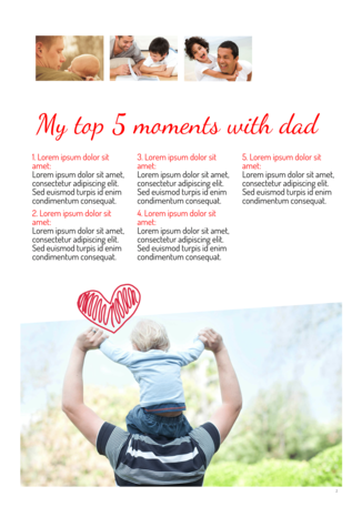 Make your own Father's Day newspaper - Happiedays