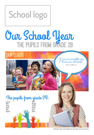 Make your own end-of-year school newspaper farewell gift - Happiedays
