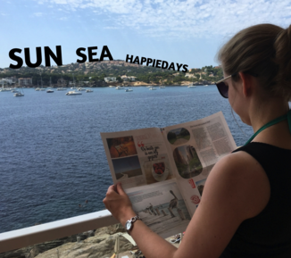 Make your own travel holiday newspaper - Happiedays